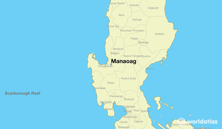 map showing the location of Manaoag