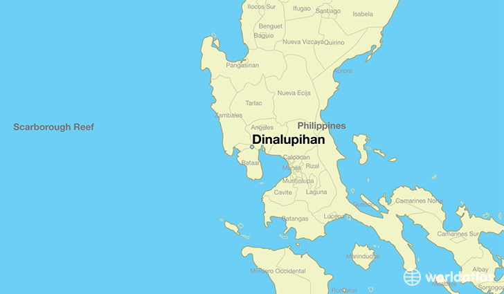 map showing the location of Dinalupihan