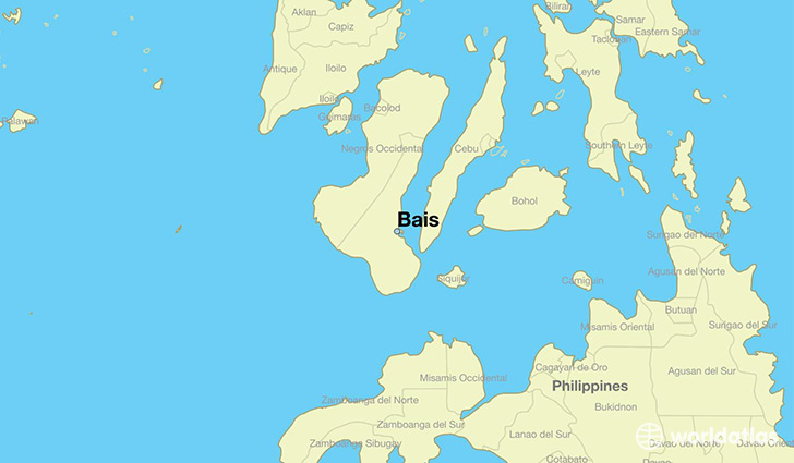 map showing the location of Bais