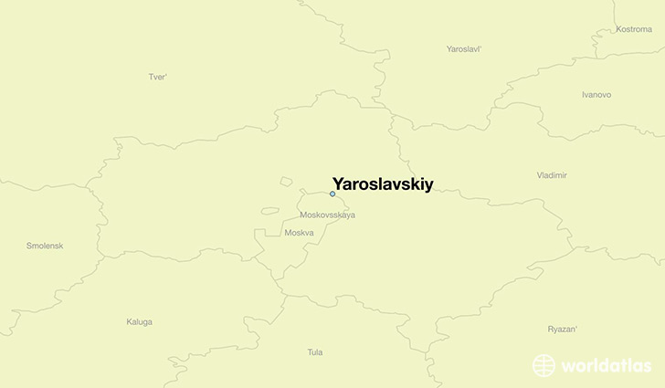 map showing the location of Yaroslavskiy