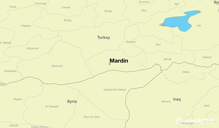 Where is Mardin Turkey Mardin Mardin Map WorldAtlascom