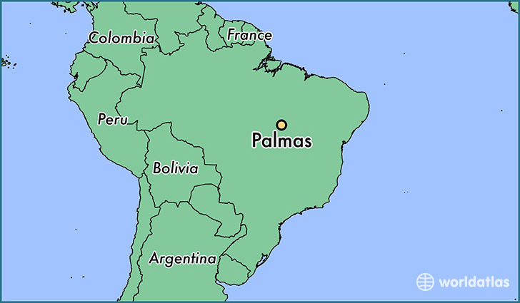 map showing the location of Palmas