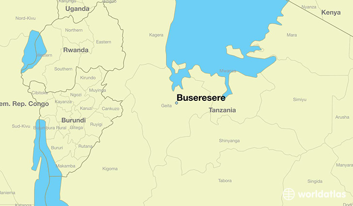 map showing the location of Buseresere