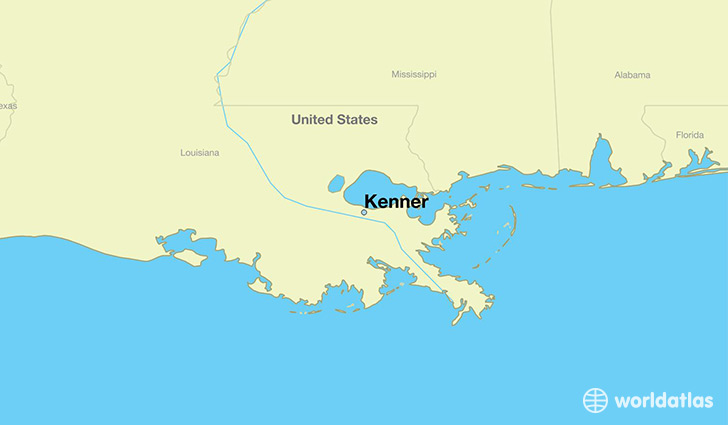map showing the location of Kenner