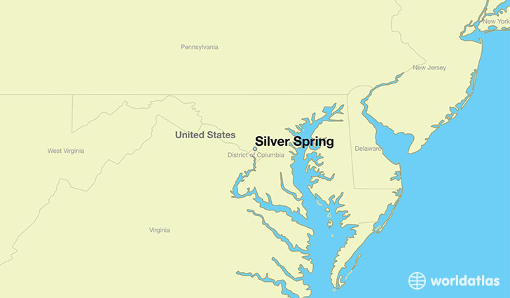 map showing the location of Silver Spring