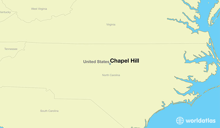 map showing the location of Chapel Hill