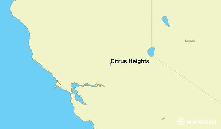 map showing the location of Citrus Heights