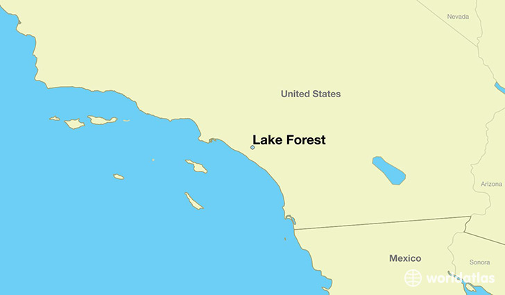 Where Is Lake Forest Ca Lake Forest California Map