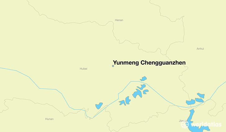 map showing the location of Yunmeng Chengguanzhen
