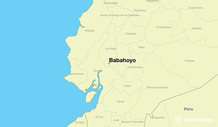 map showing the location of Babahoyo