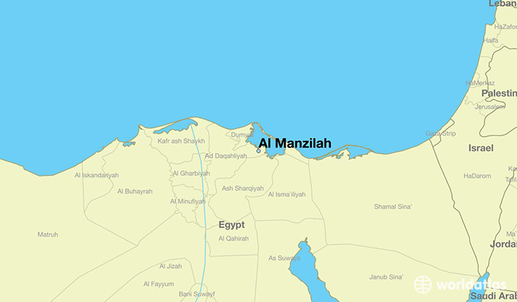 map showing the location of Al Manzilah