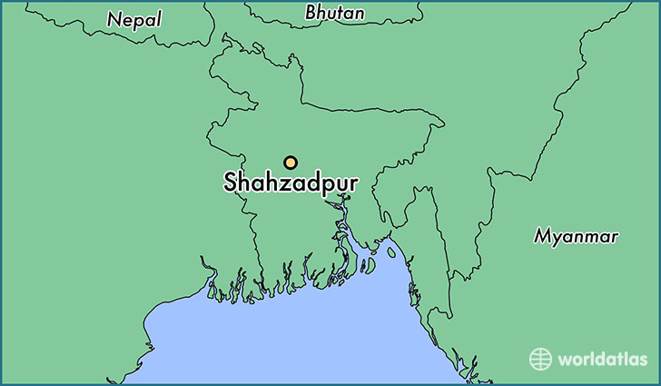 map showing the location of Shahzadpur
