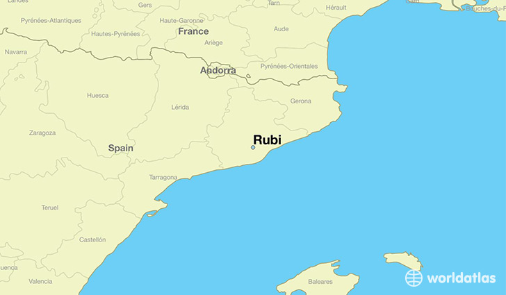 map showing the location of Rubi