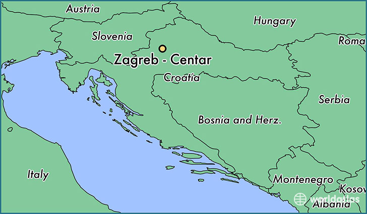 map showing the location of Zagreb - Centar