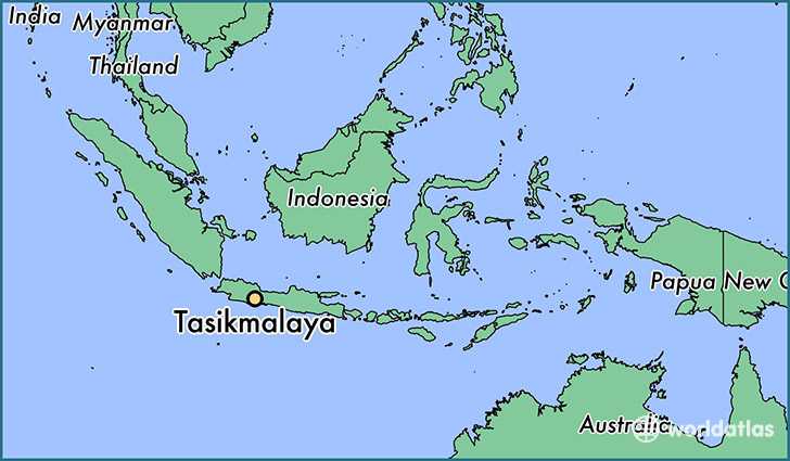 map showing the location of Tasikmalaya