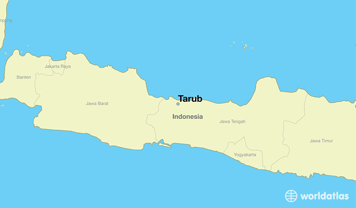 map showing the location of Tarub