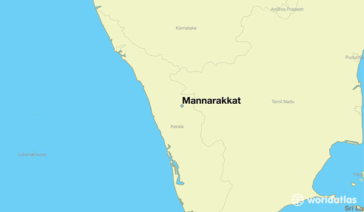 map showing the location of Mannarakkat