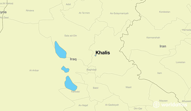 map showing the location of Khalis
