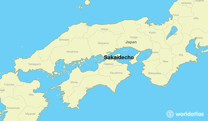 map showing the location of Sakaidecho