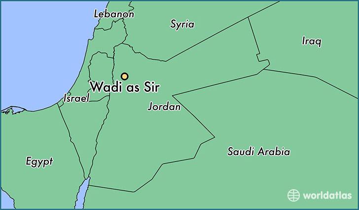 Where is Wadi as Sir Jordan Wadi as Sir Amman Map WorldAtlascom
