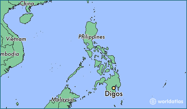 map showing the location of Digos
