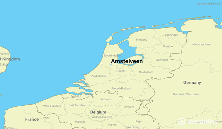 map showing the location of Amstelveen