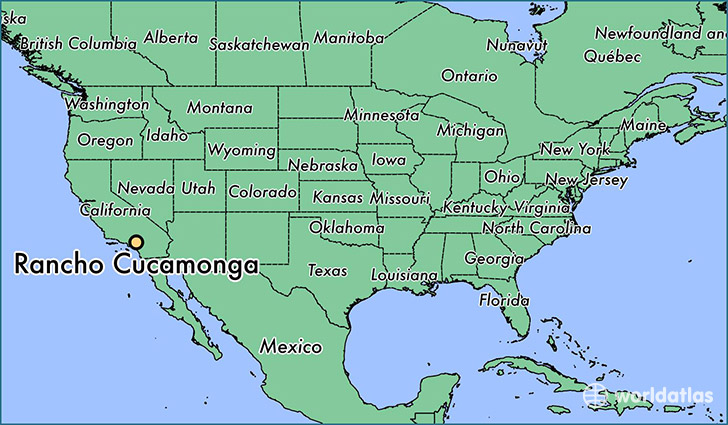 Where is Rancho Cucamonga CA Rancho Cucamonga California Map