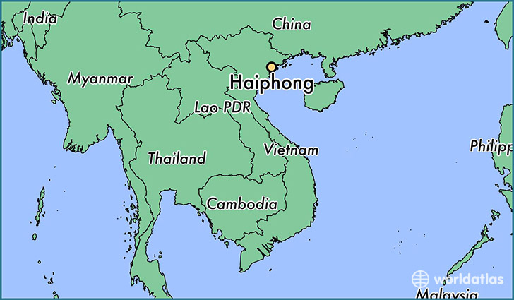 map showing the location of Haiphong