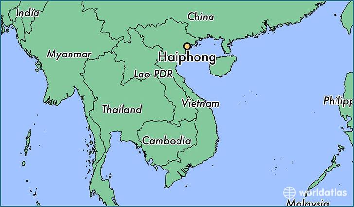 Haiphong Vietnam Map.Where Is Haiphong Viet Nam Haiphong Hai Phong Map Worldatlas Com