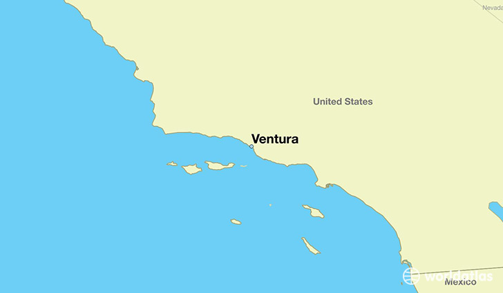 map showing the location of Ventura