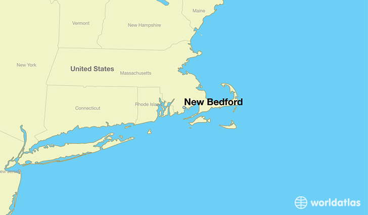 map showing the location of New Bedford