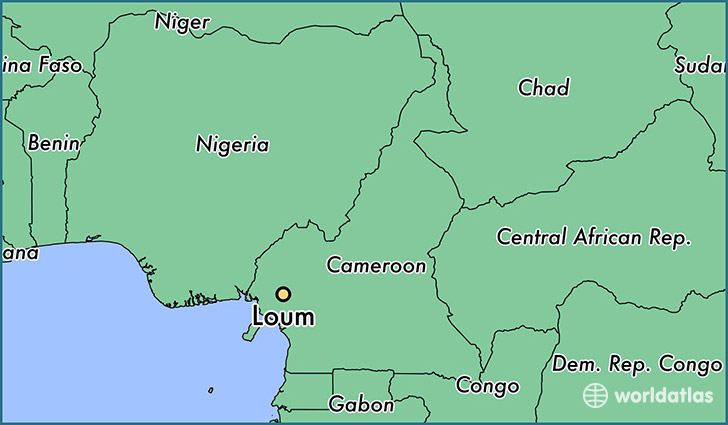map showing the location of Loum
