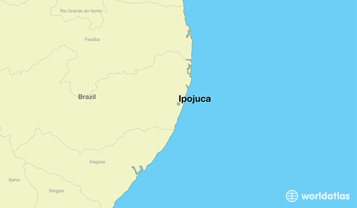 map showing the location of Ipojuca