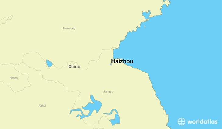map showing the location of Haizhou