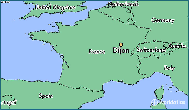 Where is Dijon France Dijon Burgundy Map WorldAtlascom