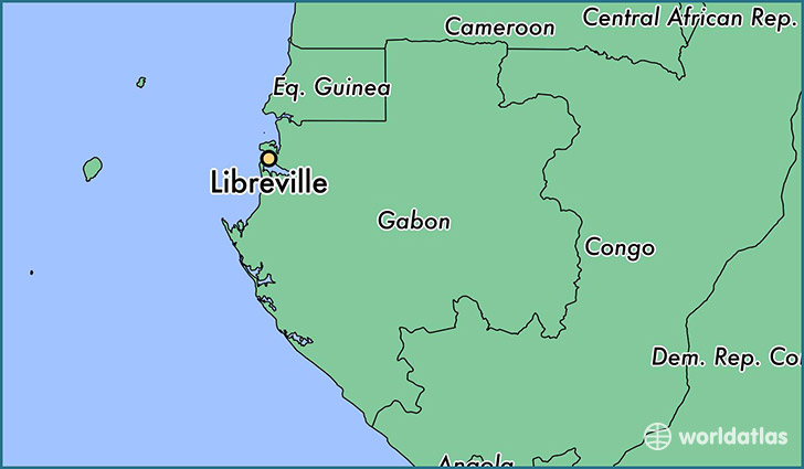 map showing the location of Libreville