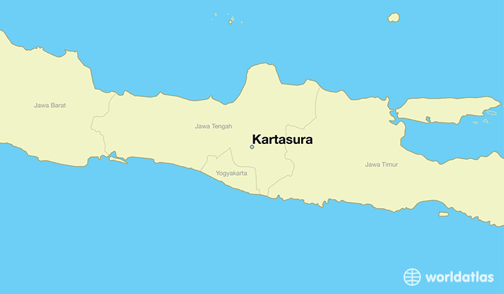 map showing the location of Kartasura