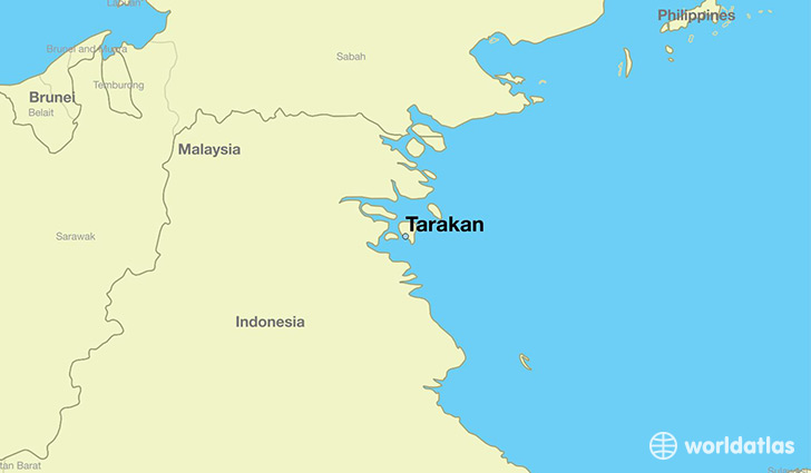 Where is tarakan indonesia tarakan north kalimantan map map showing the location of tarakan gumiabroncs Image collections