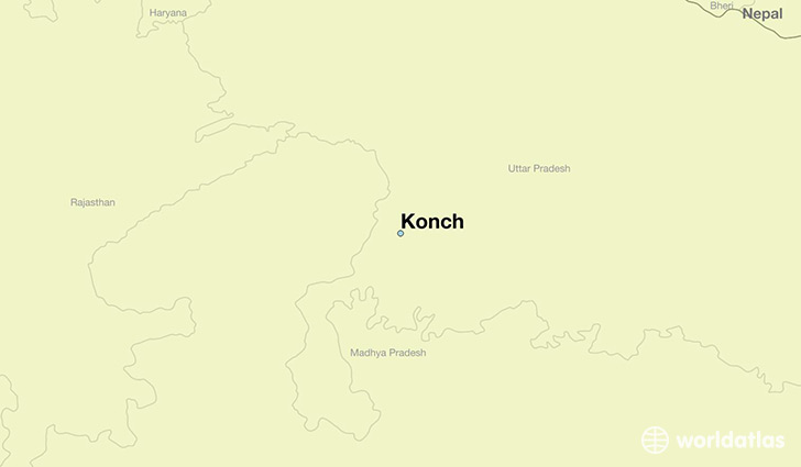 map showing the location of Konch