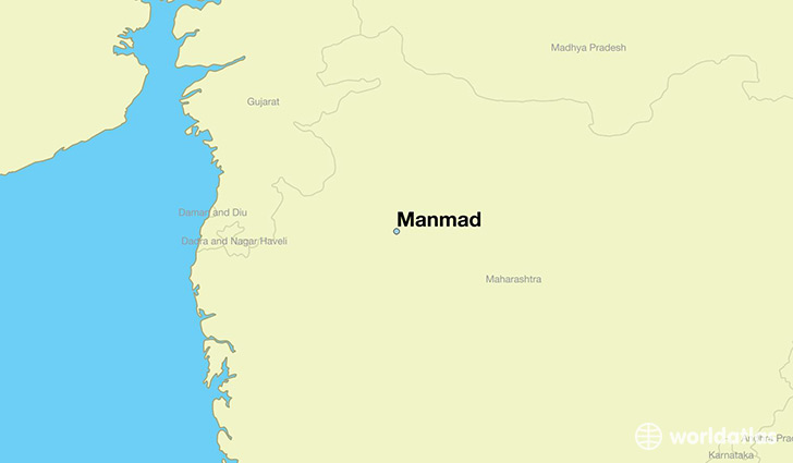 map showing the location of Manmad