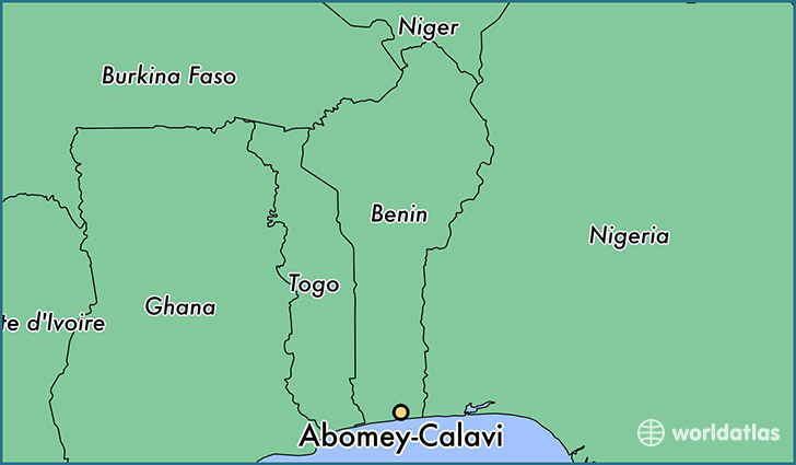 map showing the location of Abomey-Calavi