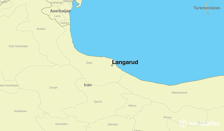 map showing the location of Langarud