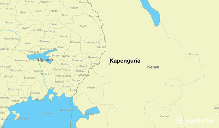 map showing the location of Kapenguria