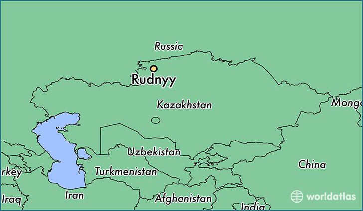 map showing the location of Rudnyy