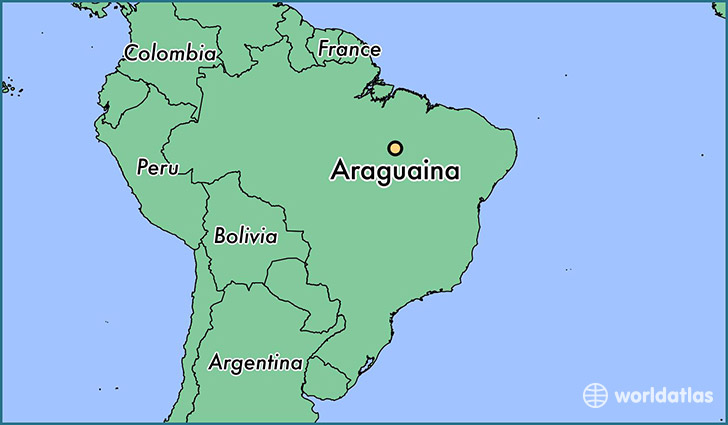 map showing the location of Araguaina