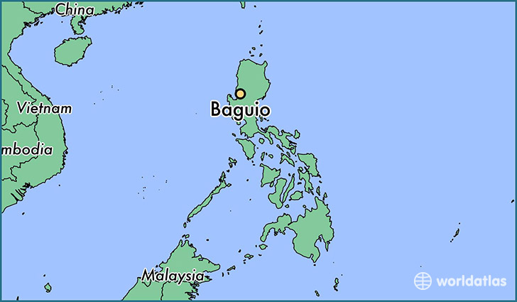 map showing the location of Baguio