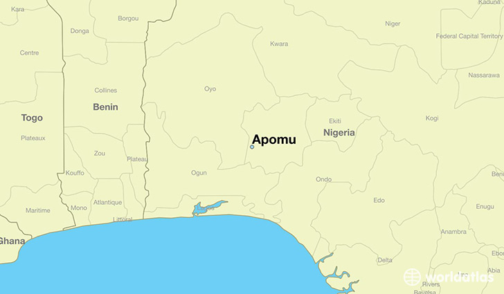 map showing the location of Apomu