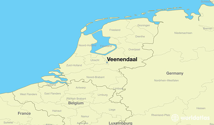 map showing the location of Veenendaal