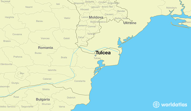 map showing the location of Tulcea