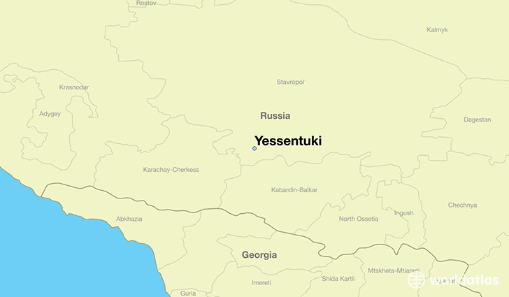 map showing the location of Yessentuki